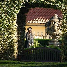 Portrét ve Vrtbovské zahradě