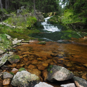 Zátiší nad Mumlavskémy vodopády, už téměř u Krakonošovi snídaně.