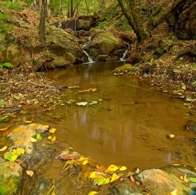 kaskády potoka Dírka