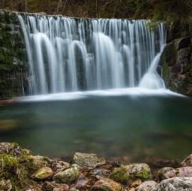 Balvanový vodopád na Bílém Labi
