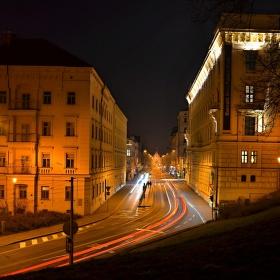 Husova ul. v noci (Brno)