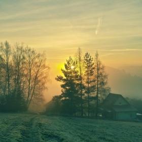 Východ slunce na přelomu roku