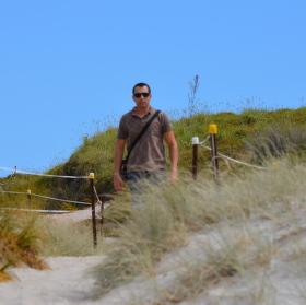 Příchod na pláž