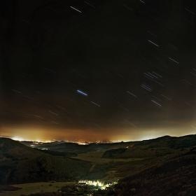 Noční pohled z Lipské hory