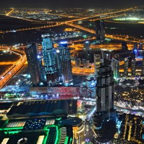 Výhled z Burj Khalify