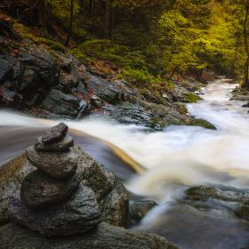 Rozbouřený Černohorský potok