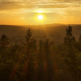 Západ na Zelené hoře
