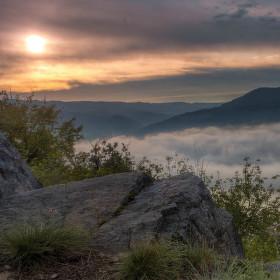 Mlha nad Ústím