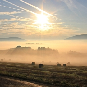 Šumavské mlhavé ráno