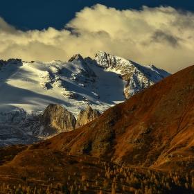 Dolomity, na pomezí podzimu a zimy