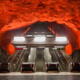 Stanice metra Solna Centrum