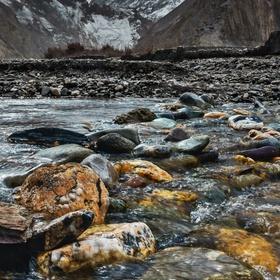 Říční brod v Ladakhu