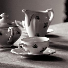 Retro šálek čaje