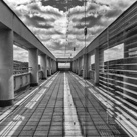 Na střeše budovy 21 ve Zlíně