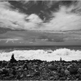 Pobřeží u Sao Vicente
