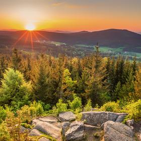 Západ slunce na Nebelsteinu
