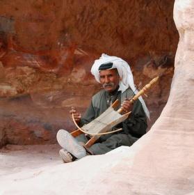 beduínský hudebník