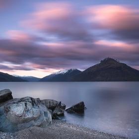 sunrise at lake Wakatipu