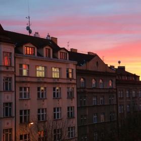 Pohled z balkonu