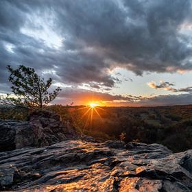 Západ slunce v Divoké Šárce