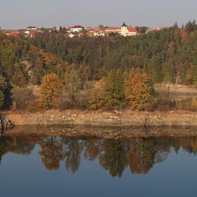 Dalešicka přehrada panorama
