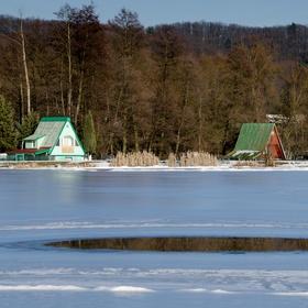 Rybník a zima