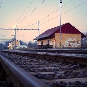 Cestou z nádraží.