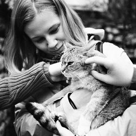 Šťastná kočička