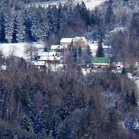 Zimní krajina v podkrkonoší