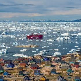 Barvy grónského pobřeží