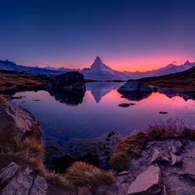 Matternhorn po západu slunce