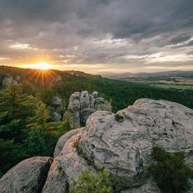Západ ve skaláku, oblast Maják, Český ráj
