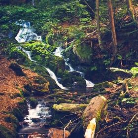 Vodopád na Hlubokém potoku