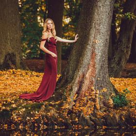 Podzim u jezírka