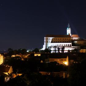 noční zámek v Mikulově
