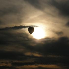 Podvečerní obloha nad Krumlovem