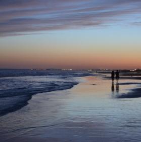 Západ Slunce na Costa de la Luz, Španělsko