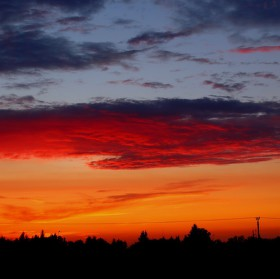 západ slunce nad Kostelcem