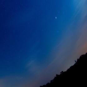 Noční nebe nad Charvátcemi