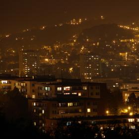 noční výhled na zlín