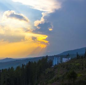 Západ Slunce v Tatrách