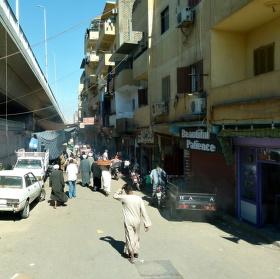Běžný život v ulících Luxoru.