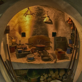 Kuchyně ve skanzenu