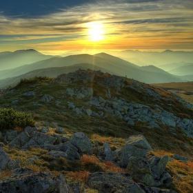 Západ na Nízkotatranskom vrchole.