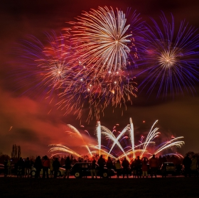 Novoroční ohnostroj nad Prahou