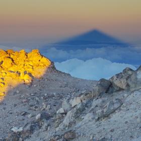 Svítání na Teide