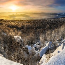 ráno z Děčínského Sněžníku