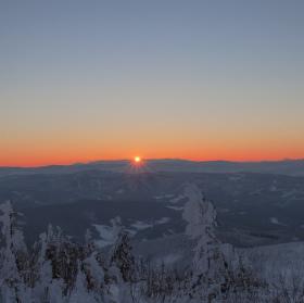 Východ sluníčka z Lysé hory