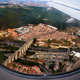 Lisabon z letadla
