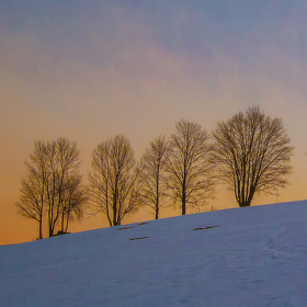 Západ slunce v Jizerkách